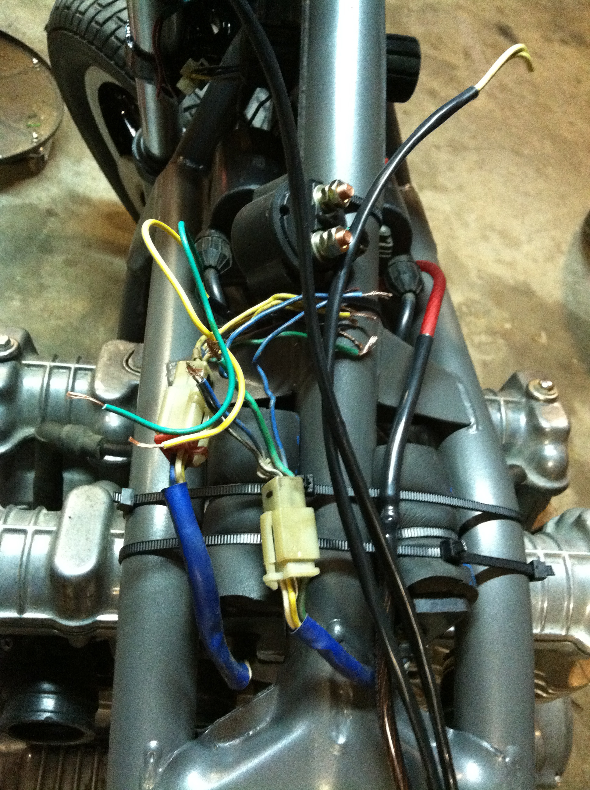 Wiring One Up Moto Garage Kawasaki Ninja Harness Routing Got All My Electrical Components On The Bike Just Need To Wire It Together Now What You See Here Will Be Cleaned And Hidden Under Tank Of